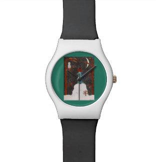 雪のダックスフント 腕時計