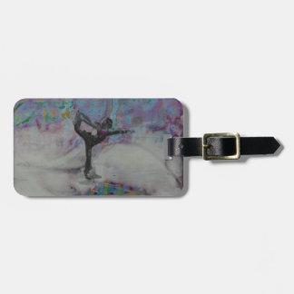 雪のダンサー-荷物のラベル ラゲッジタグ