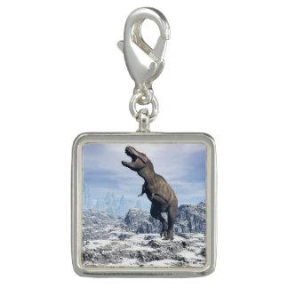 雪のティラノサウルス・レックス- 3Dは描写します チャーム