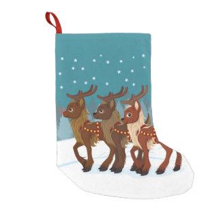 雪のトナカイ スモールクリスマスストッキング