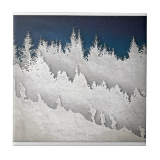 雪のハイキング タイル