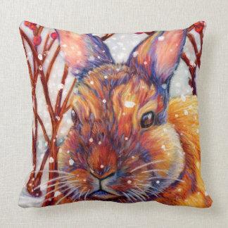 雪のバニー-バニーの枕、ウサギの枕 クッション