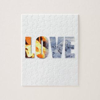 雪のパズルのような火愛のような愛 ジグソーパズル