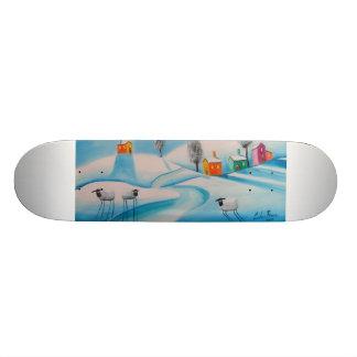 雪のヒツジ 20.6CM スケートボードデッキ