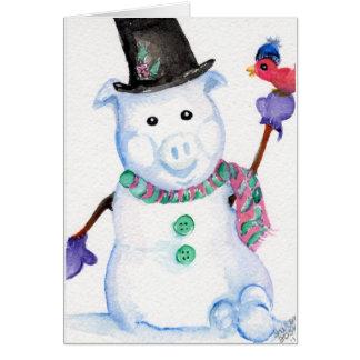 雪のブタカード カード