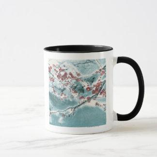 雪のプラム花 マグカップ