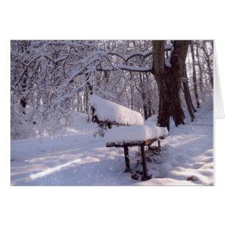 雪のベンチ カード