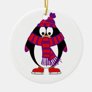雪のペンギン セラミックオーナメント