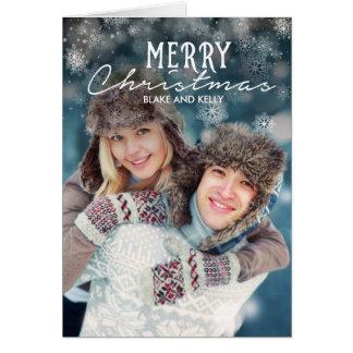 雪のメリークリスマスカード カード