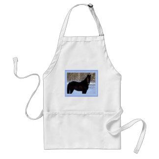 雪のモーガンの黒い馬 スタンダードエプロン