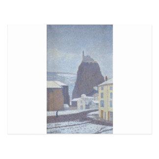 雪の下の聖者マイケルのd'Aiguilhe (Hauteロアール) ポストカード