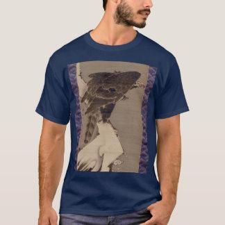 雪の中の鷲、雪の若冲のワシ、Jakuchu Tシャツ