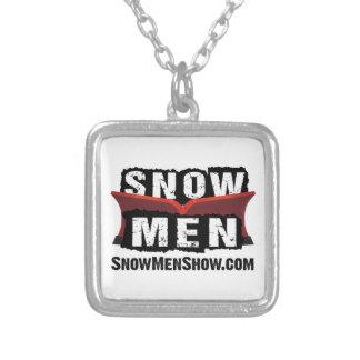 雪の人 シルバープレートネックレス