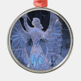 雪の冬の彫刻の天使のキリスト教の信頼 メタルオーナメント