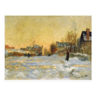 雪の効果、クロウド著Argentuilの通り ポストカード