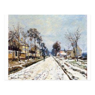 雪の効果、クロウド著Louveciennesへの道 ポストカード