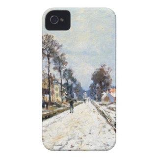 雪の効果、クロウド著Louveciennesへの道 Case-Mate iPhone 4 ケース