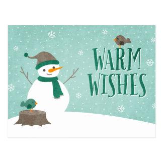 雪の友人の休日の郵便はがき ポストカード
