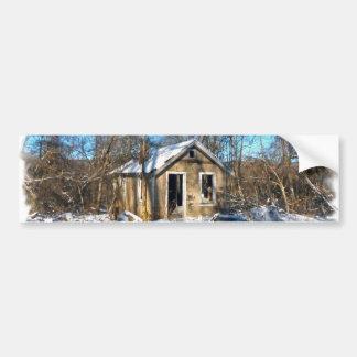 雪の古い家 バンパーステッカー