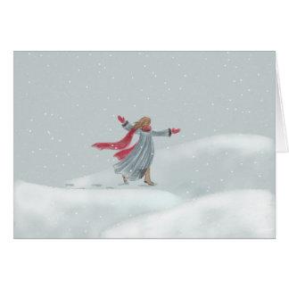 雪の喜び カード