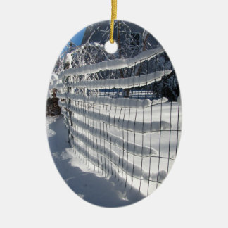 雪の塀の~のオーナメント セラミックオーナメント