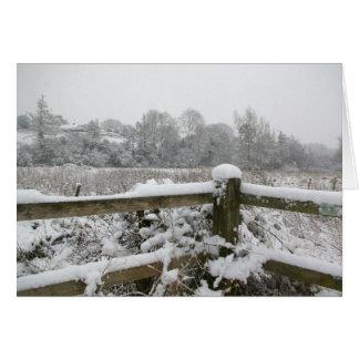 雪の塀 カード