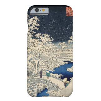 雪の太鼓橋、広重のSnowyのドラム橋、Hiroshige、Ukiyo-e Barely There iPhone 6 ケース