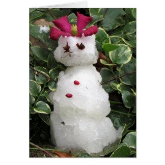 雪の女性のChristmas カード