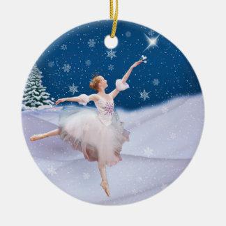 雪の女王のバレリーナのクリスマスのオーナメント セラミックオーナメント