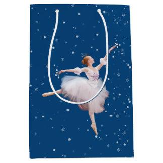 雪の女王のバレリーナ ミディアムペーパーバッグ