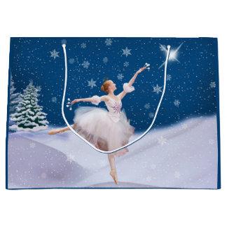 雪の女王のバレリーナ ラージペーパーバッグ