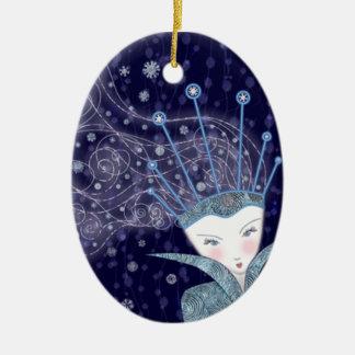 雪の女王の装飾 セラミックオーナメント