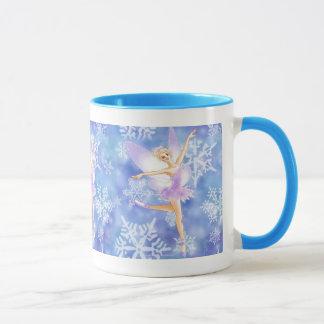 雪の妖精のバレリーナのマグ マグカップ