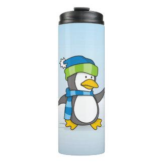 雪の小さいペンギンの歩く タンブラー