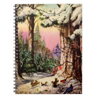 雪の小さい動物 ノートブック