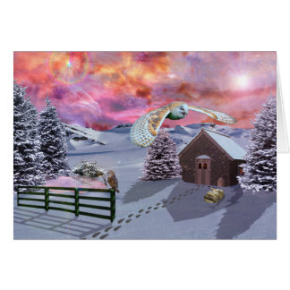 雪の小屋 カード