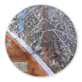 雪の小屋 セラミックノブ