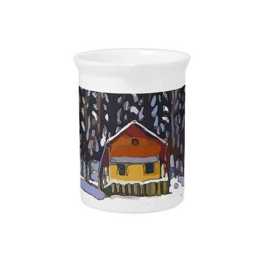 雪の小屋 ピッチャー