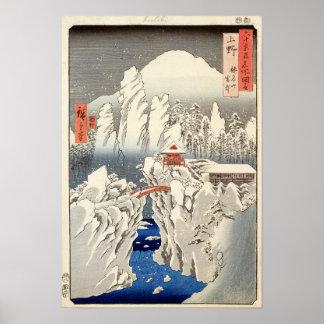 雪の山Harunaの眺め ポスター