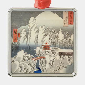 雪の山Harunaの眺め メタルオーナメント