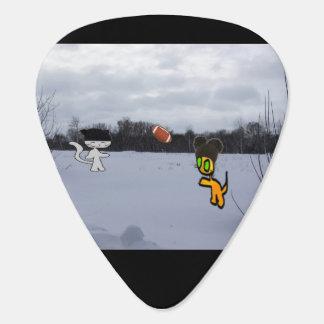 雪の帽子の演劇のフットボールの猫 ギターピック