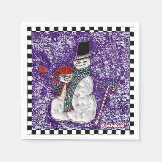 雪の挨拶の紙ナプキン スタンダードカクテルナプキン