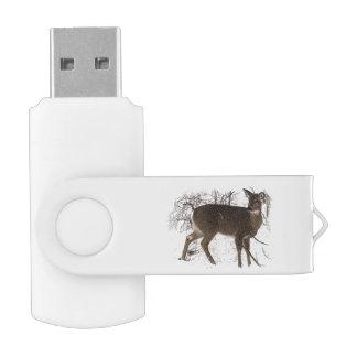 雪の旋回装置USB 2.0の抜け目がないドライブのシカ USBフラッシュドライブ