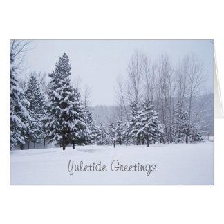 雪の木のクリスマスカード カード