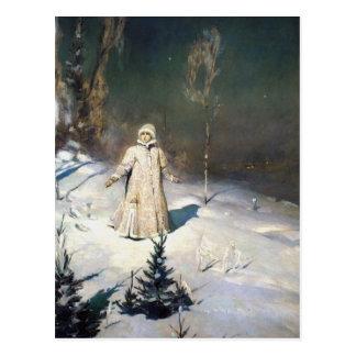 雪の未婚のファンタジーの芸術 ポストカード