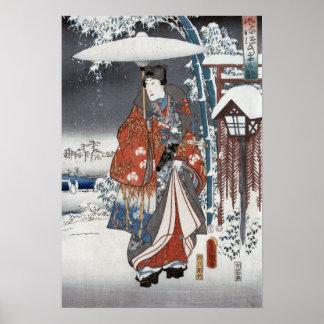 雪の武士のポスター及びプリント ポスター