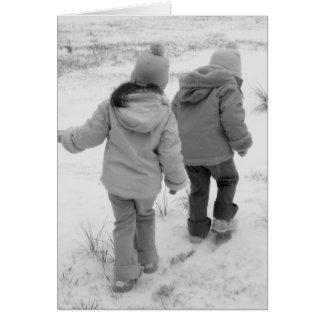 雪の歩行 カード