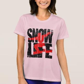 雪の生命赤い寄宿生(blk) tシャツ