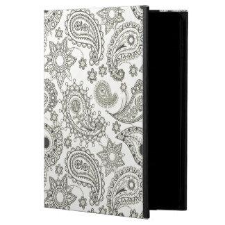 雪の白いペイズリーのiPadの空気2箱 Powis iPad Air 2 ケース