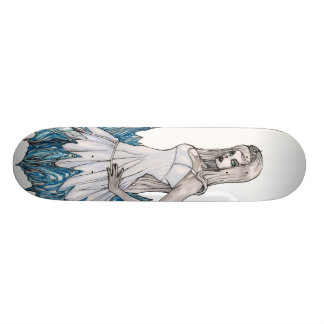 雪の白の女王 18.7CM ミニスケートボードデッキ